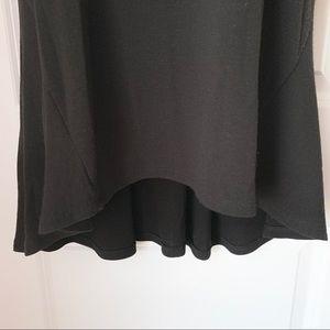 Anthropologie Tops - Anthro Three Dot Black 1/2 Sleeve Hi Low Tunic Top